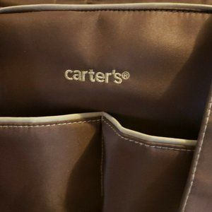 Carter's Duffel Diaper Tote Brown Canvas